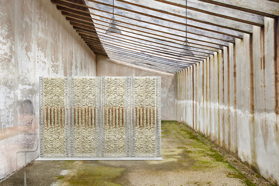 MOSSwall® Free Standing structure by Verde Profilo | Space dividing systems