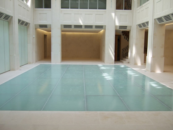 ACIERFLAM GLAZED FLOORING by SVF | Glass flooring