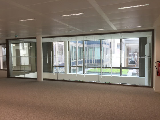 ALUPROTEC edge-to-edge partitions by SVF | Wall partition systems