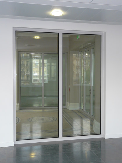 ALUPROTEC Fixed chassis partitions by SVF | Wall partition systems