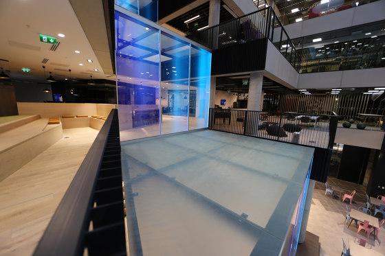 ASB LumiFlex | Microsoft Digital Waterfall Lake by ASB GlassFloor | Glass panels