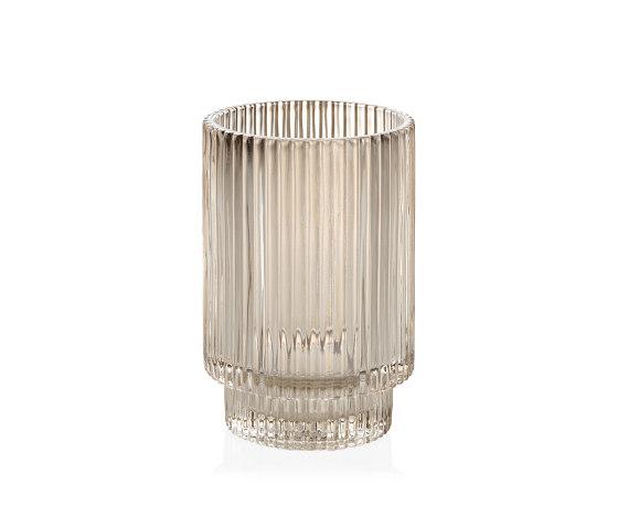 Complementos Decoración | Tea Light Vidrio Beige Ø8,5X13 cm de Andrea House | Candelabros