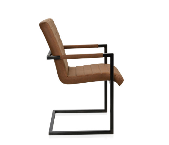 Chairs and Sofas | Camel Reci. Leath. Armchair 57X57X90 von Andrea House | Stühle