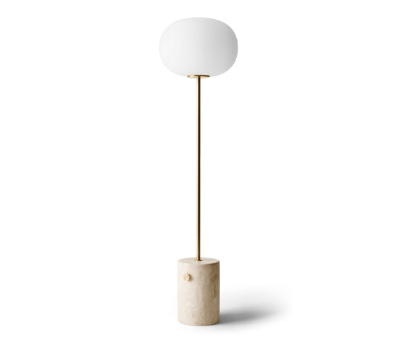 JWDA Floor Lamp | Travertine | Brushed Brass by MENU | Free-standing lights