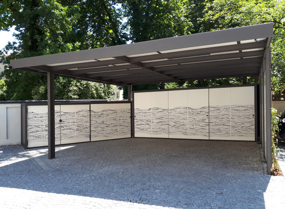 Carport | CP37 by Bergmeister Kunstschmiede | Open parking areas