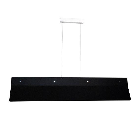 Acoustic Line 140 Black by Valaisin Grönlund | Suspended lights
