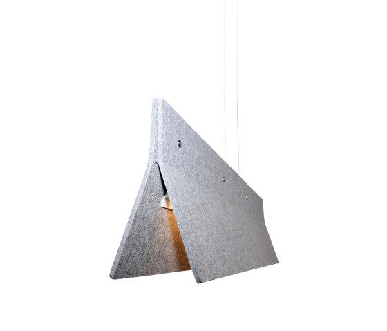 Acoustic Line 140 Light Grey by Valaisin Grönlund | Suspended lights