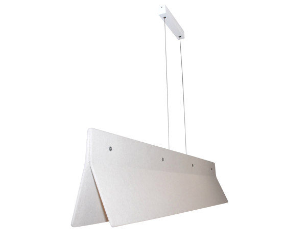 Acoustic Line 140 Off-white by Valaisin Grönlund | Suspended lights
