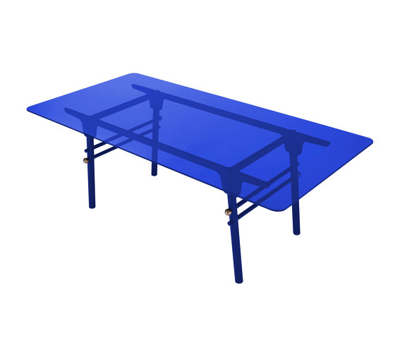 PARIS MING | Rectangular Dining Table | Blue Indigo by Maison Dada | Dining tables