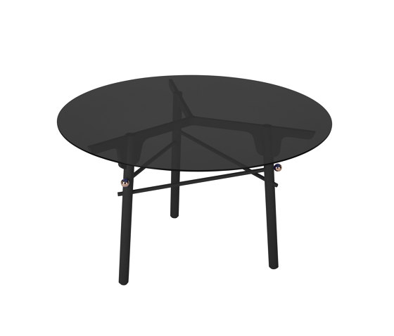 PARIS MING | Round Dining Table | Black by Maison Dada | Dining tables