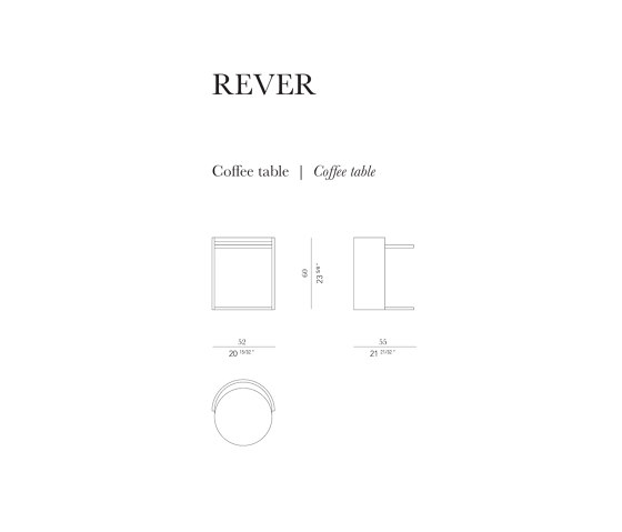 Rever Side Table de Rossato | Tables d'appoint