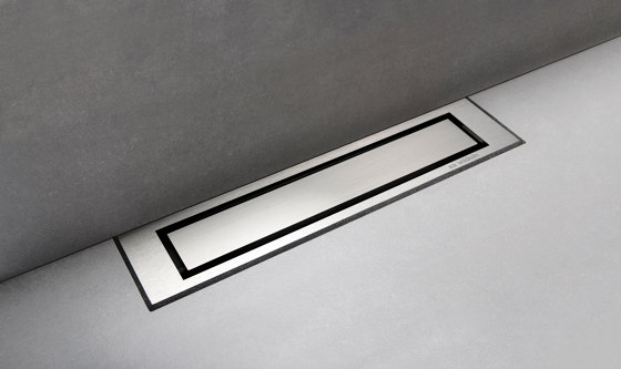 HighLine Colour | Brushed steel by Unidrain | Linear drains