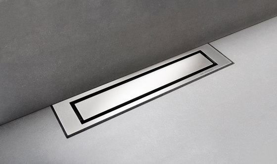 HighLine Colour | Hand-polished steel by Unidrain | Linear drains