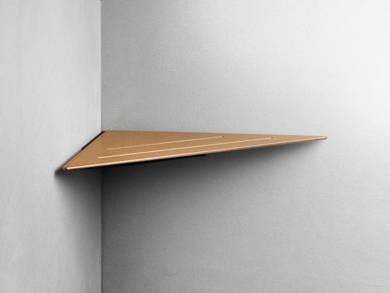 Reframe Collection   Corner shelf - copper by Unidrain   Bath shelves