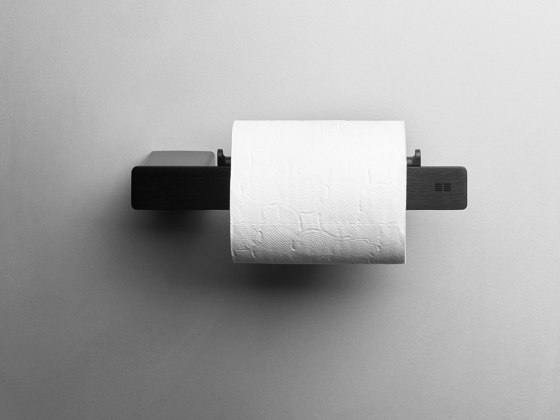 Reframe Collection   Toilet paper holder - black by Unidrain   Paper roll holders