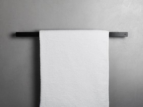 Reframe Collection | Towel bar - black by Unidrain | Towel rails