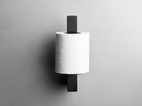 Reframe Collection | Toilet paper holder spare - black by Unidrain | Paper roll holders