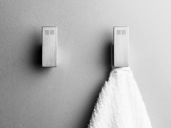 Reframe Collection | Hooks - brushed steel by Unidrain | Towel rails