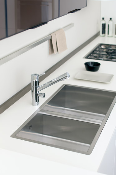 Idealaqua | Kitchen sink mixer Idealaqua series forwater treatment, with separated waterflows. by Quadrodesign | Kitchen taps