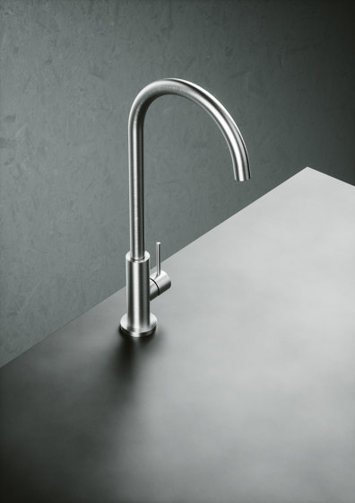Kitchen Inox | Stainless steel Kitchen sink mixer with swivel spout. by Quadrodesign | Kitchen taps