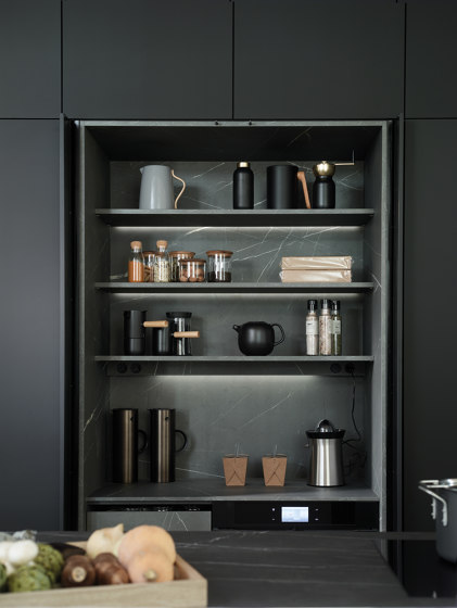 Retractable tall unit FINE by Santos | Kitchen cabinets