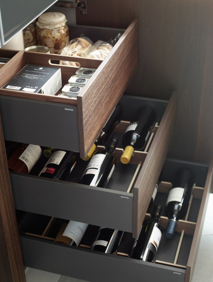 FINE Tall units with interior drawers by Santos | Kitchen organization