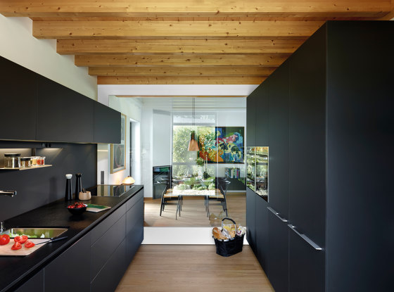 FINE Silk Black LAH by Santos | Fitted kitchens