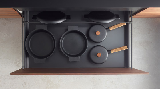 Accessories for bins and plinth drawers by Santos | Kitchen organization