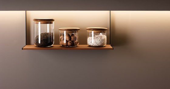 Accessories for LED lighting profile by Santos | Kitchen organization