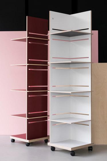 Juli | shelf on wheels by Georg Muehlmann | Shelving