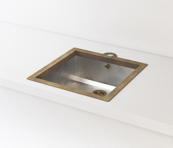 SATIN STAINLESS STEEL BUILT-IN SINK LVQ019 by Officine Gullo | Kitchen sinks