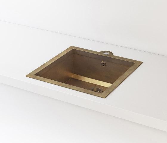 BURNISHED BRASS BUILT-IN SINK LVQ020 by Officine Gullo   Kitchen sinks