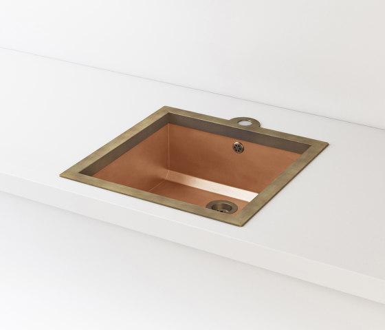 BURNISHED COPPER BUILT-IN SINK LVQ021 by Officine Gullo | Kitchen sinks