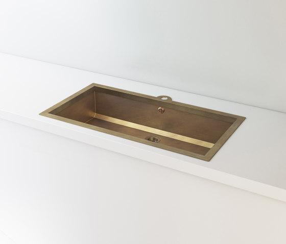 BURNISHED BRASS BUILT-IN SINK LVQ022 by Officine Gullo   Kitchen sinks