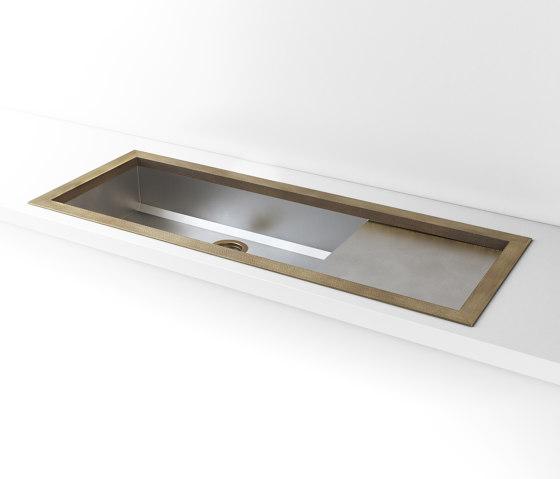 SATIN STAINLESS STEEL BUILT-IN SINK LVQ032_DX de Officine Gullo | Éviers de cuisine
