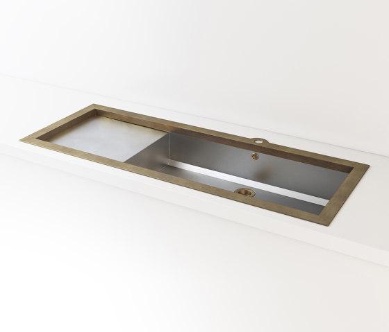 SATIN STAINLESS STEEL BUILT-IN SINK LVQ032_SX by Officine Gullo | Kitchen sinks