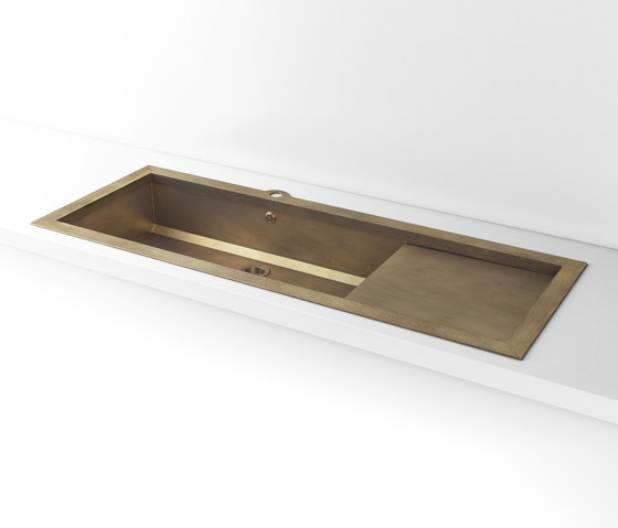 BURNISHED BRASS BUILT-IN SINK