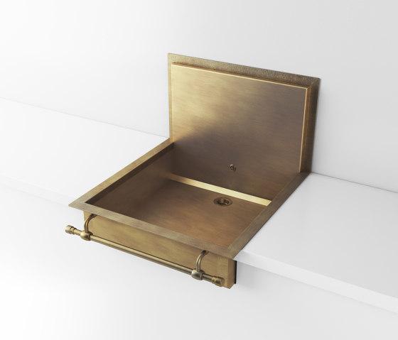 BURNISHED BRASS SEMI-RECESSED SINK LVQ058B by Officine Gullo | Kitchen sinks