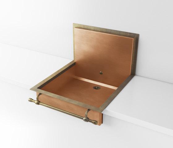 BURNISHED COPPER SEMI-RECESSED SINK LVQ059B by Officine Gullo | Kitchen sinks