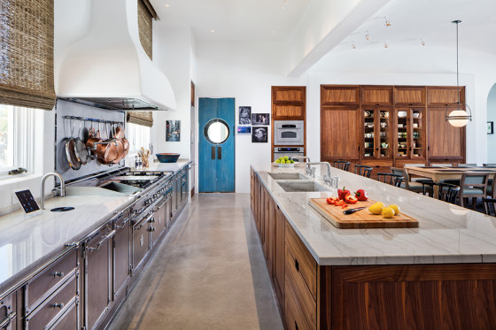 STAINLESS STEEL & POLISHED CHROME KITCHEN by Officine Gullo   Fitted kitchens
