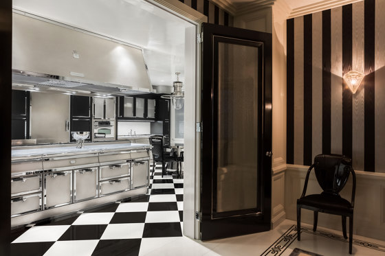 STAINLESS STEEL & POLISHED CHROME KITCHEN by Officine Gullo | Fitted kitchens