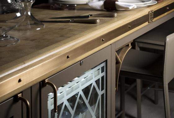 BEIGE GREY & BURNISHED BRASS KITCHEN by Officine Gullo | Fitted kitchens