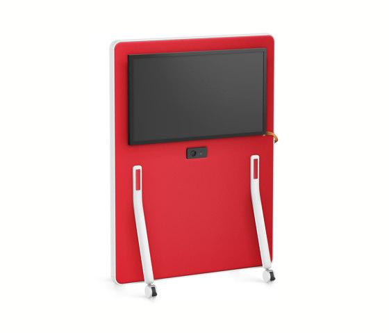 HUB board media low HUM60 by Interstuhl | Sound absorbing room divider