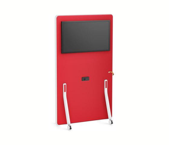 HUB board media high HUM62 by Interstuhl | Sound absorbing room divider