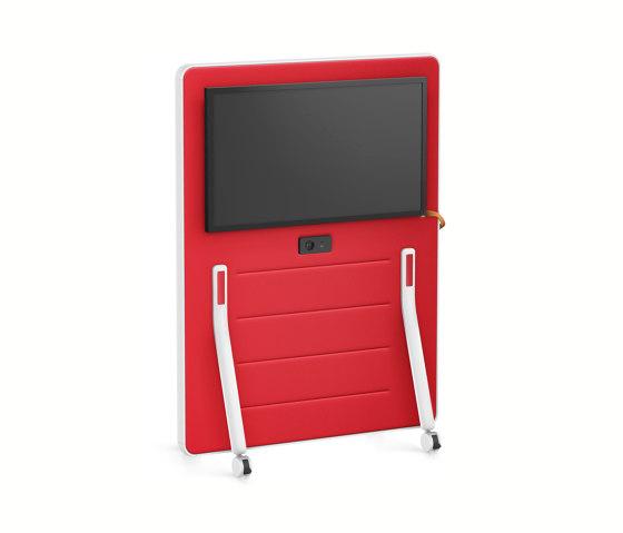 HUB board media low HUM63 by Interstuhl | Sound absorbing room divider