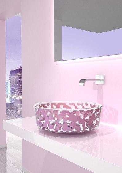 Marea Sink Lavender by Glass Design   Wash basins