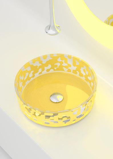 Marea Sink Saffron Yellow by Glass Design | Wash basins