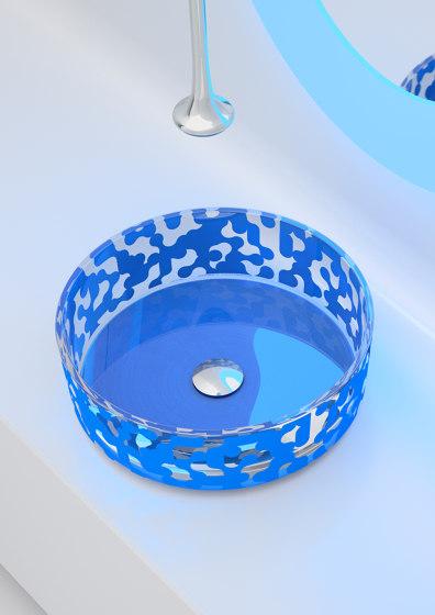 Marea Sink Sky Blue by Glass Design | Wash basins
