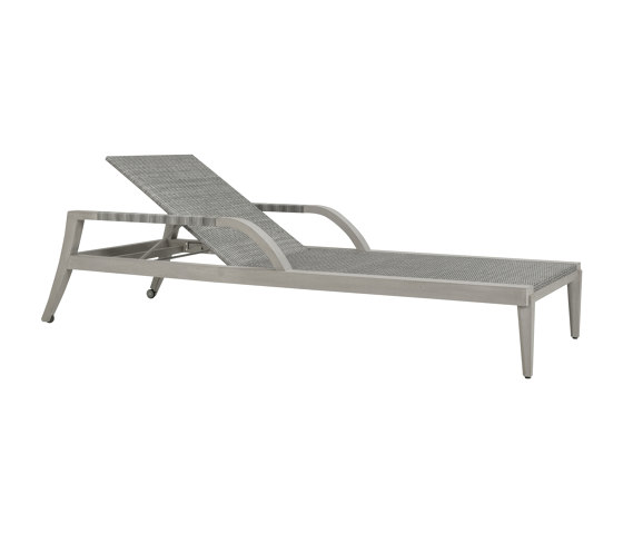 ROCK GARDEN CHAISE LOUNGE WITH ARMS di JANUS et Cie | Lettini giardino