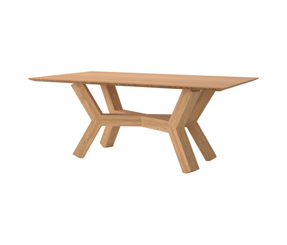 Dinner Table Tertius in Solid Bamboo by Editions LS | Dining tables